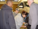 Photo of automotive students