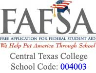 FAFSA logo including CTC school code links to external FAFSA offiical web page