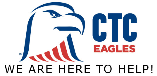 CTC Eagle Mascot - We Are Here To Help